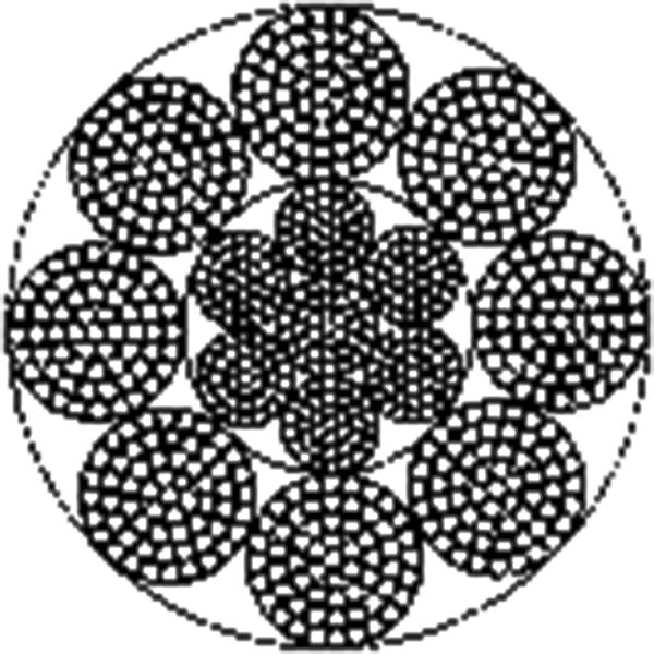 粗直径钢丝绳 8×61+IWRC
