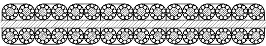 平衡用扁钢丝绳  P8×4×9