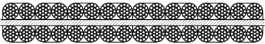 平衡用扁钢丝绳 P8×4×19