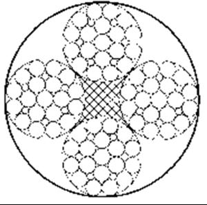 四股钢丝绳4×25Fi+FC