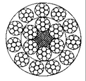 多层股钢丝绳17×7+FC