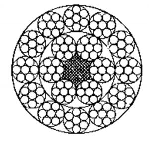 多层股钢丝绳18×7+FC