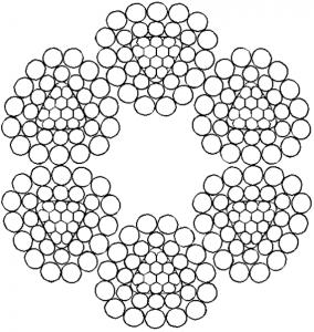 异型股钢丝绳6×28TS+FC
