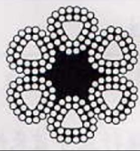 异型股钢丝绳 6×31TS+FC