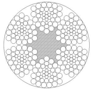 异型股钢丝绳6V×37S+FC