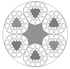 异型股钢丝绳6V×24+FC