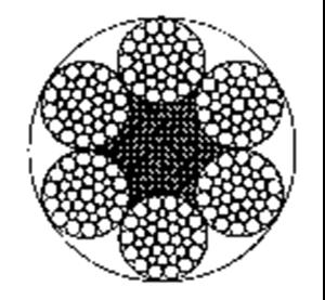 粗直径钢丝绳6×36WS+FC
