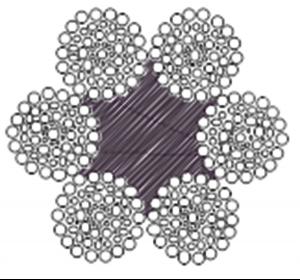 粗直径钢丝绳6×64SFS+FC