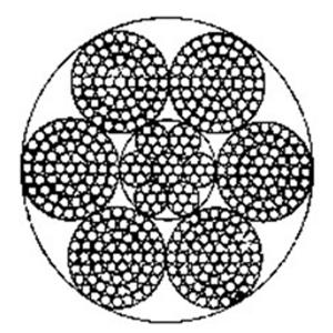 点接触钢丝绳6×61+IWRC