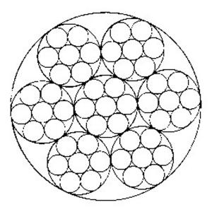 线接触钢丝绳6×7+IWS