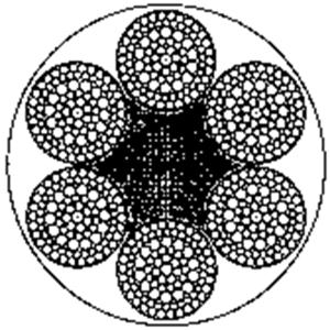 粗直径钢丝绳6×103FSNS+FC