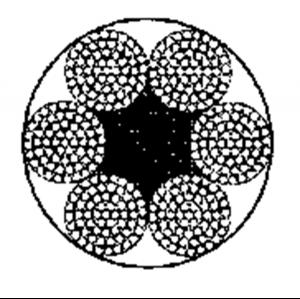 粗直径钢丝绳6×61+FC
