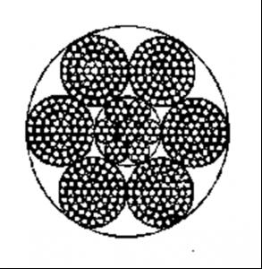 粗直径钢丝绳6×61+IWRC