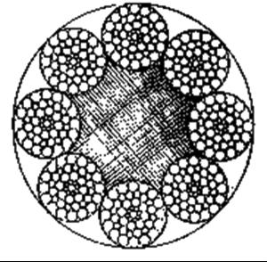 粗直径钢丝绳8×49SWS+FC