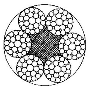 线接触钢丝绳6×29Fi+FC