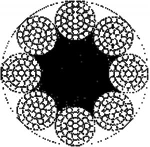 粗直径钢丝绳 8×37+FC