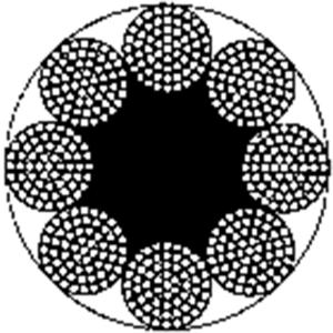 粗直径钢丝绳 8×61+FC