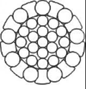 密封钢丝绳 一层圆型及X型钢丝