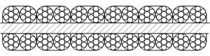 平衡用扁钢丝绳 P6×4×7