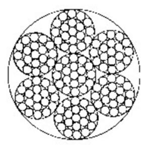 输送带用钢丝绳6×19-WSC