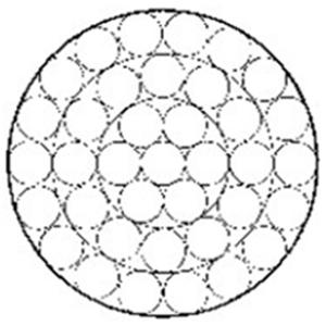 操纵用钢丝绳1×37