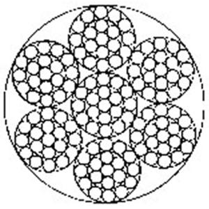 操纵用钢丝绳6×19-WSC